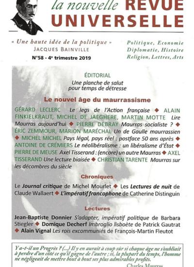 La Nouvelle Revue Universelle n°58