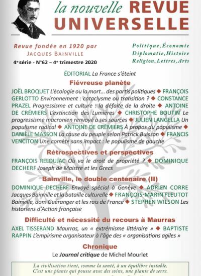 La Nouvelle Revue Universelle n°62