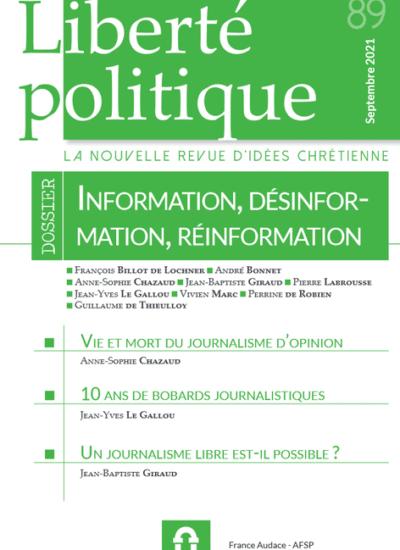 Liberté Politique n°89